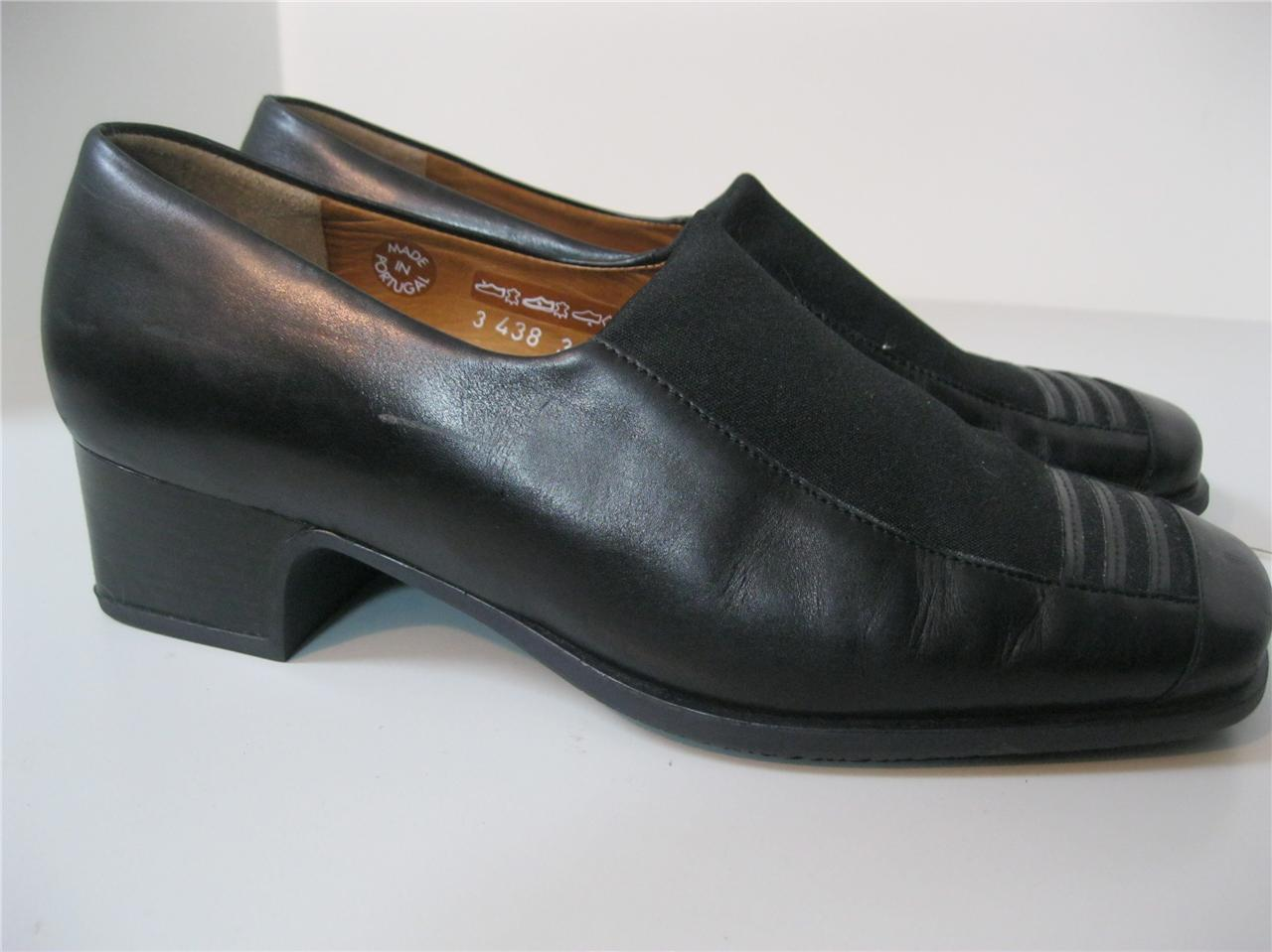 MEPHISTO-9-DRESS-LOAFERS-HEELS-WORK-BUSINESS-COMFORT-WOMEN-SHOES-BLACK