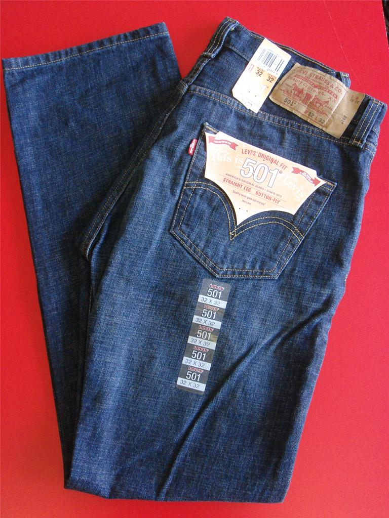 Levis 501 0422 MEN Jean DARK Sand Straight LEG Original