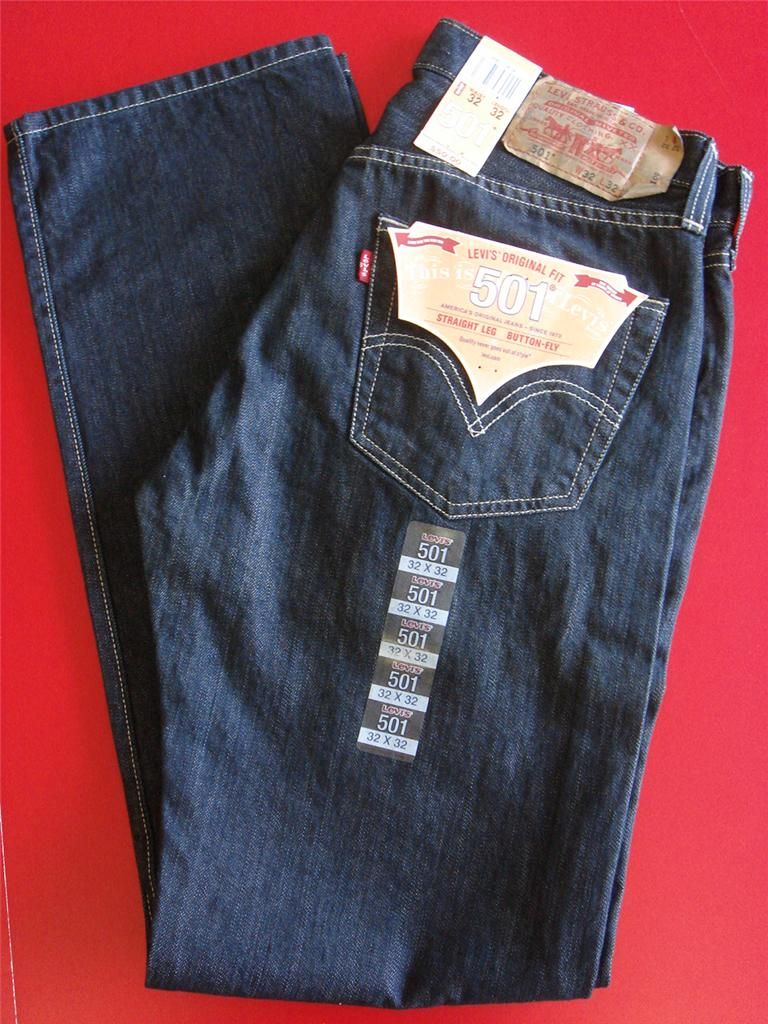 Levis 501 0536 MEN Jean DARK Blue Straight LEG Original