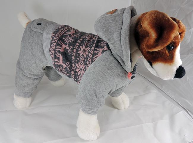 hooded sweat suit for dogs - 4 sizes
