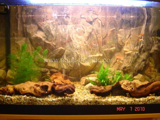 Aquarium Fish Tank Background 3D Rock Root Stone For Fish