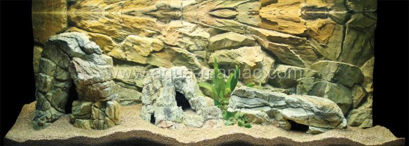 Aquarium 3d background for fish tank size 36x13 see for 3d rock wallpaper