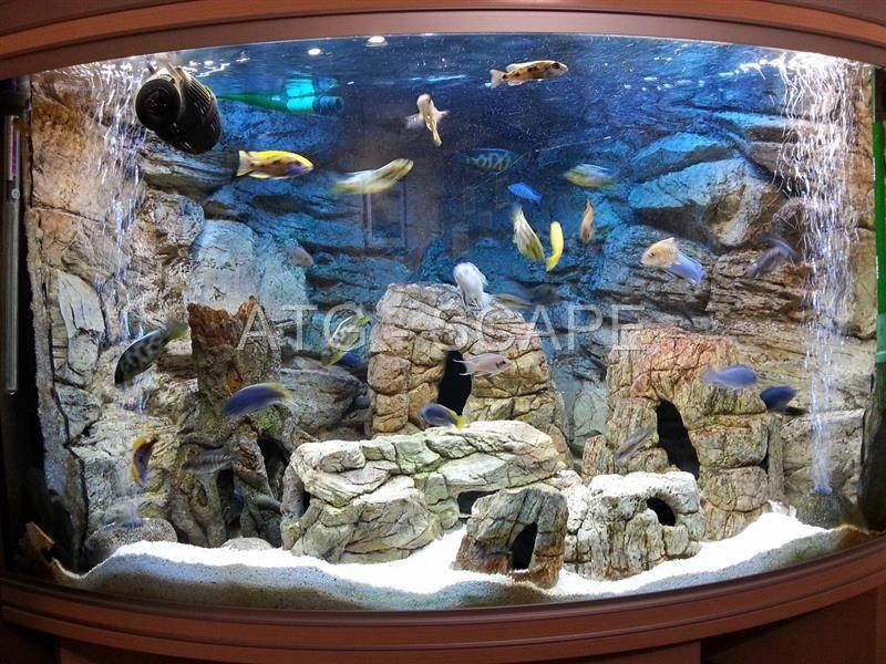 Aquarium large cave xl ornament decoration from polyresin for Aquarium cave decoration