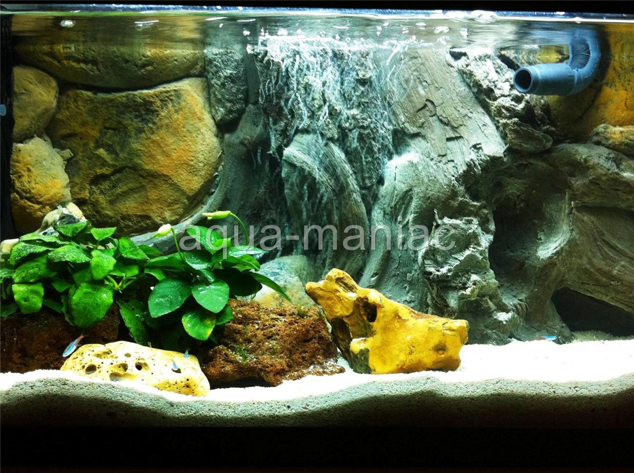 Aquarium backgrounds ebay uk aquarium backgrounds for for Fish tank backdrop