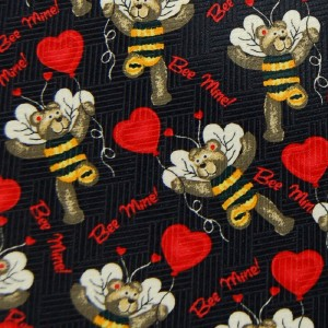 BE MINE TEDDY BEAR LOVE Valentines heart Love NECK TIE
