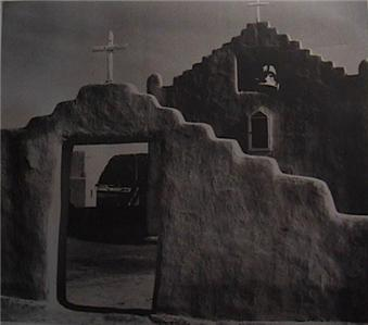 The mural project 1941 1942 taos pueblo church ansel adams for Ansel adams the mural project