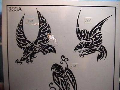 Rare 1990s 333a spaulding rogers mfg inc 11 x 14 tattoo for Spaulding rogers tattoo