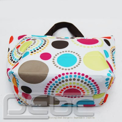 Thirty one gifts thermal tote lunch carry tote bag in circle spirals 8