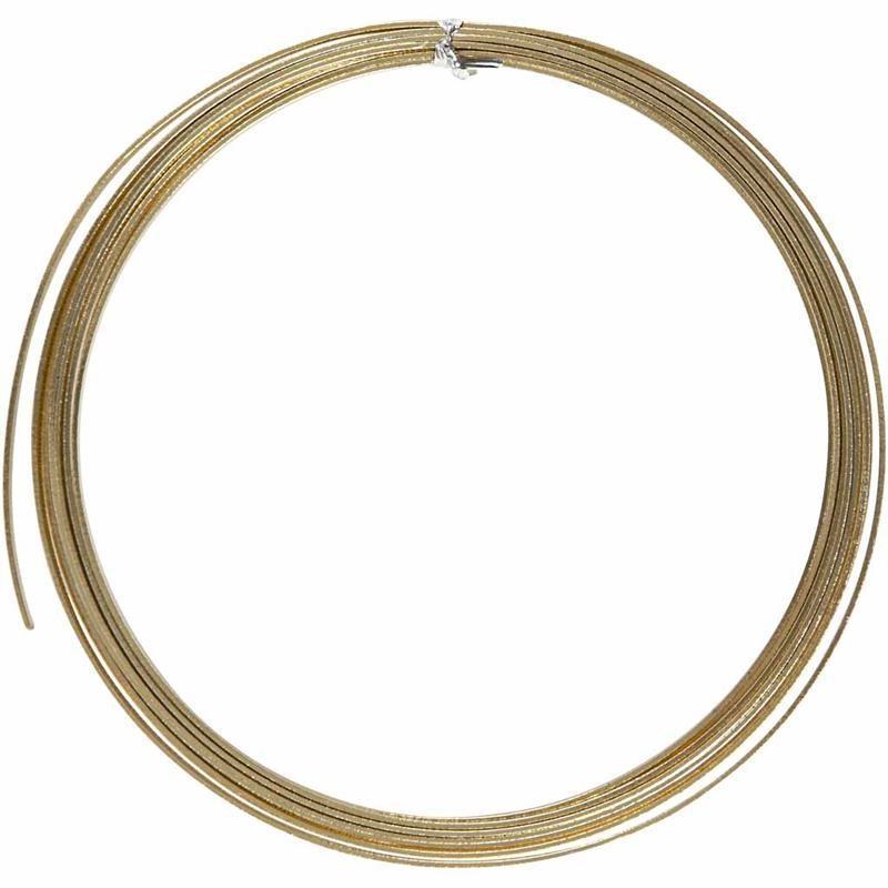Aluminium Bonzai Embossed Flat Metal Wire Craft L:4.5 m W:3.5 mm ...