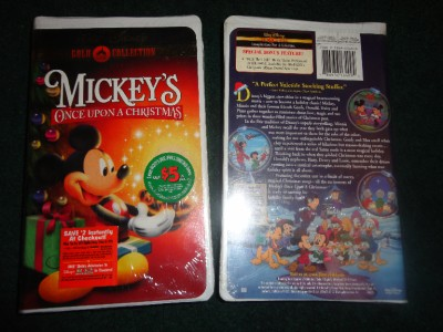 disneys mickeys once upon a christmas vhs 2000 gold - Mickeys Once Upon A Christmas Vhs