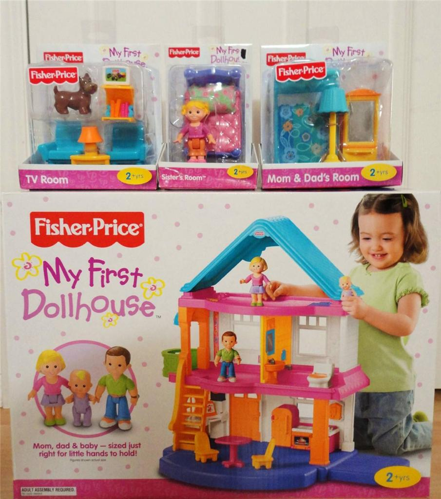 Fisher price doll house furniture -  Fisher Price My First Dollhouse Playset Furniture Sister