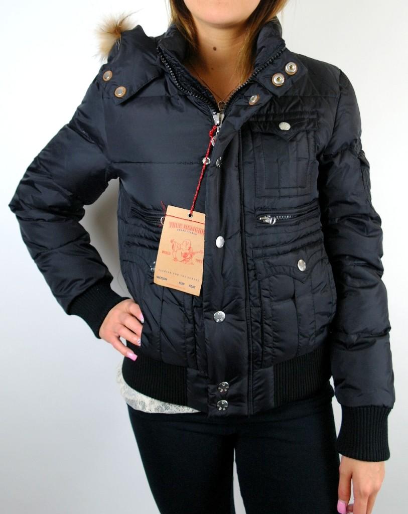 New True Religion Women S Nylon Puffer Jacket Detachable
