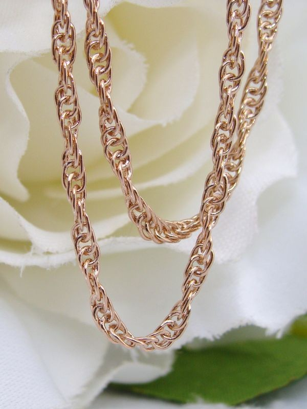 New 14ct 14k Rose Gold Filled Gf Rope Chain Necklace  Ebay. European Engagement Rings. Box Chain Necklace. 6mm Rings. Wiki Diamond. Bangle Necklace. Pinion Watches. Woman Watches. Princess Cut Infinity Band