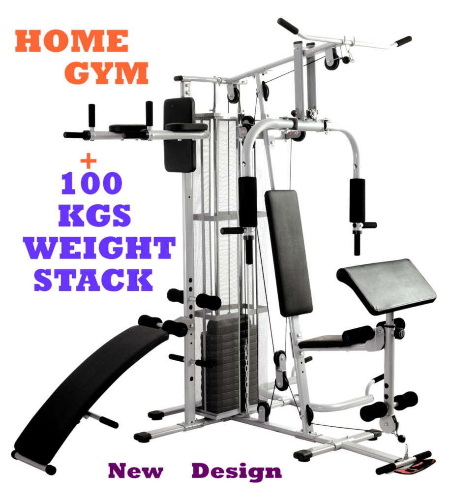 MULTI-STATION-HOME-GYM-DUMBBELL-BENCH-FITNESS-EQUIPMENT