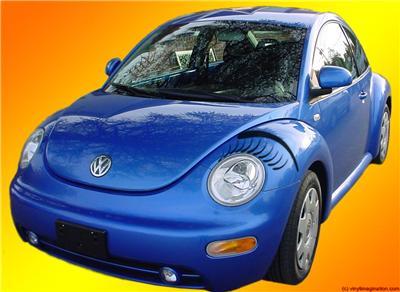 vw beetle bug eyelashes eyebrows choice  color ebay