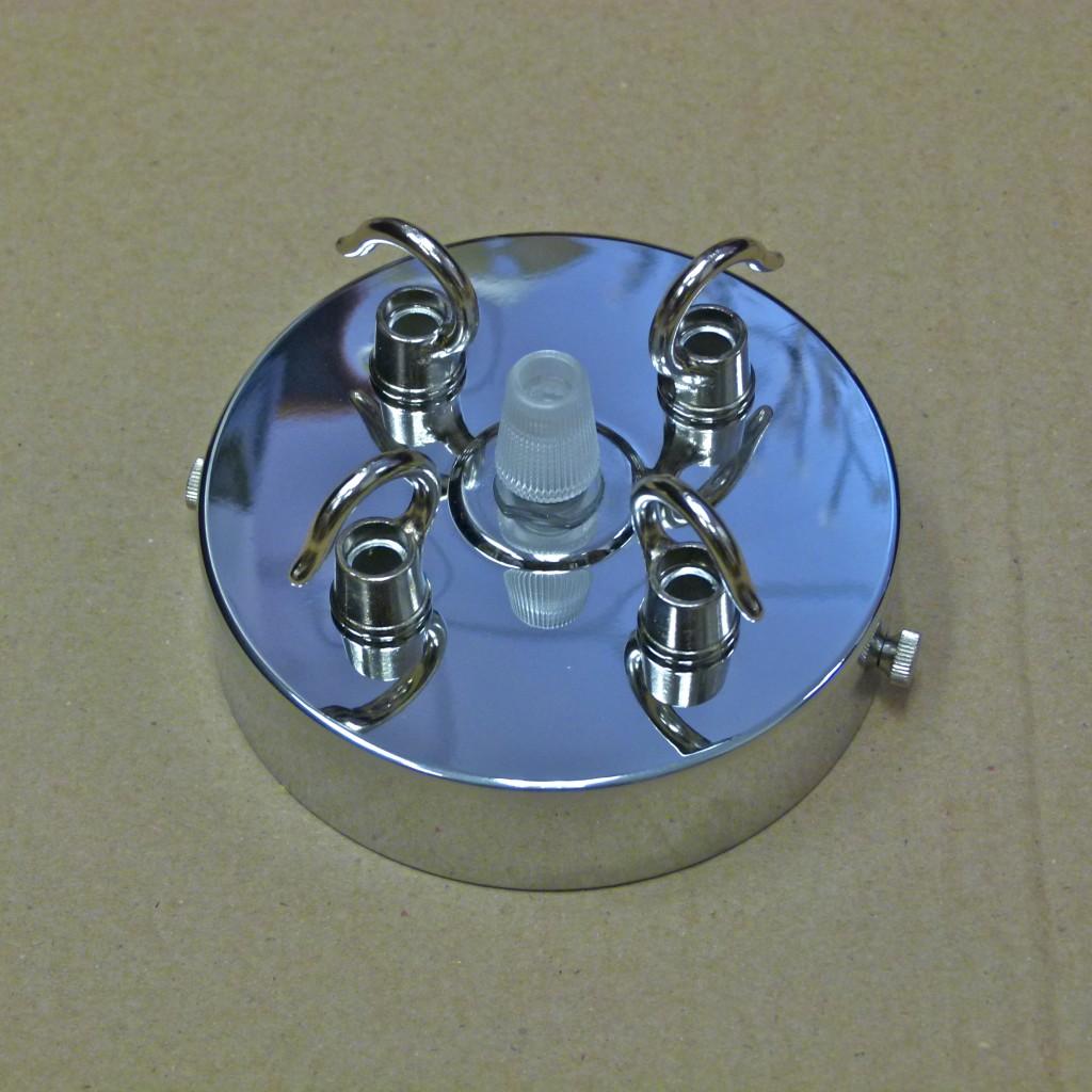 Chandelier Chrome 3 Way 4 Way Triple Quad Hook Plate Cap Ceiling