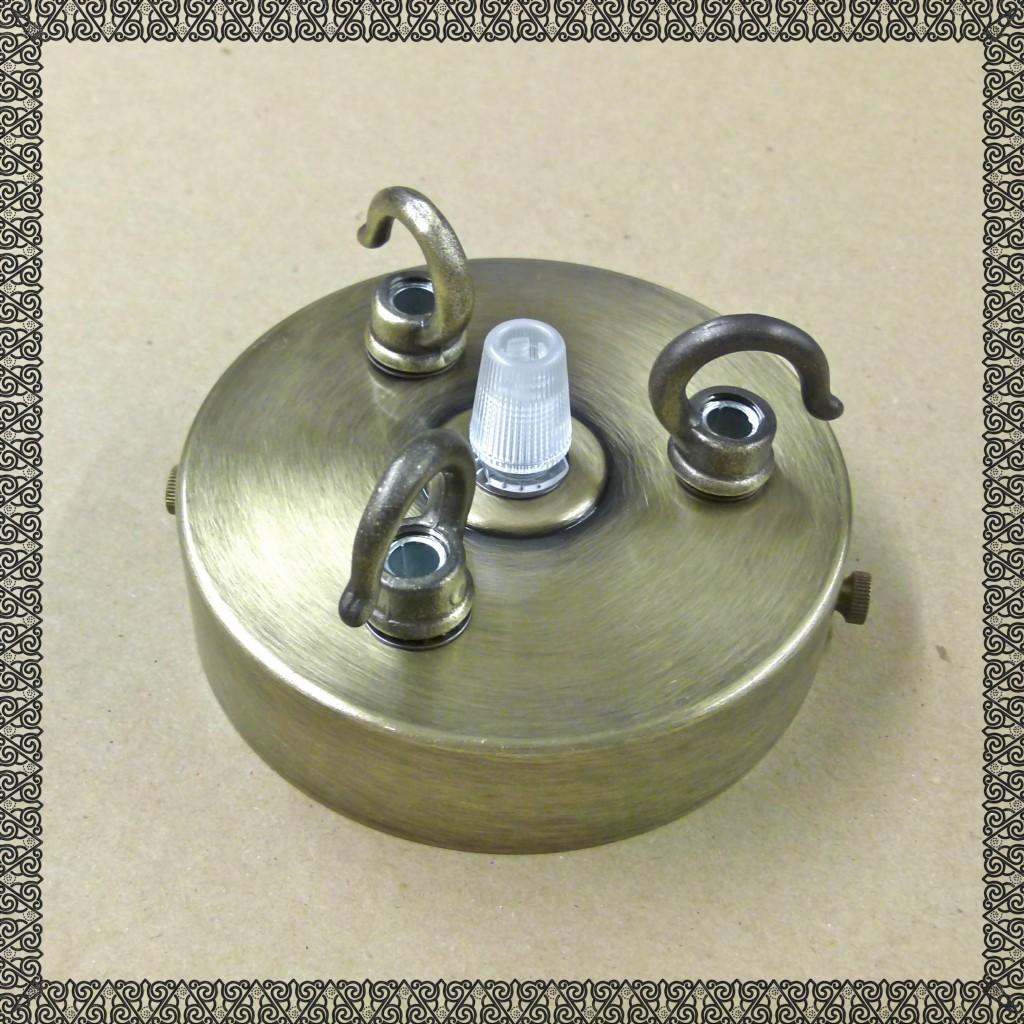 Chandelier 3 4 Way Triple Quad Antique Brass