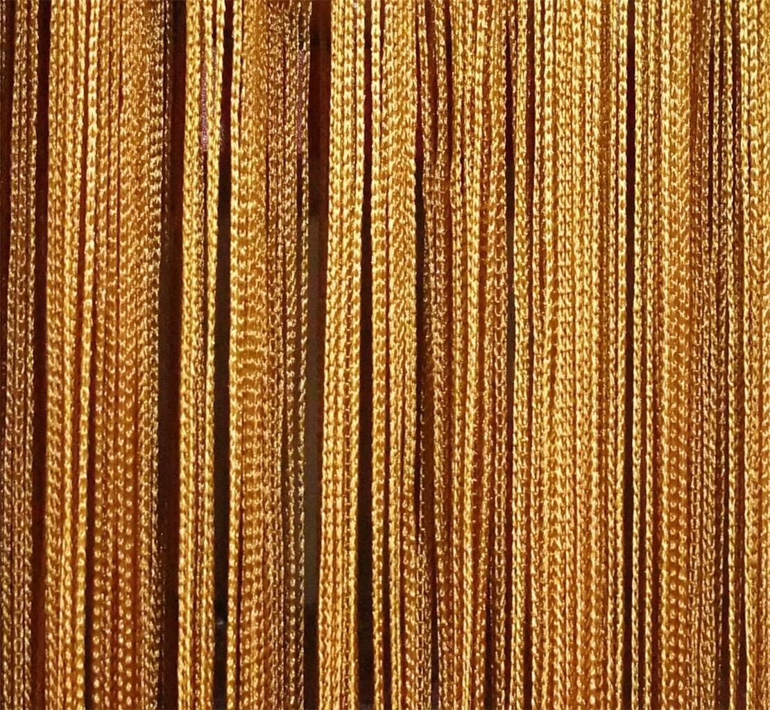 Gold fringe curtain