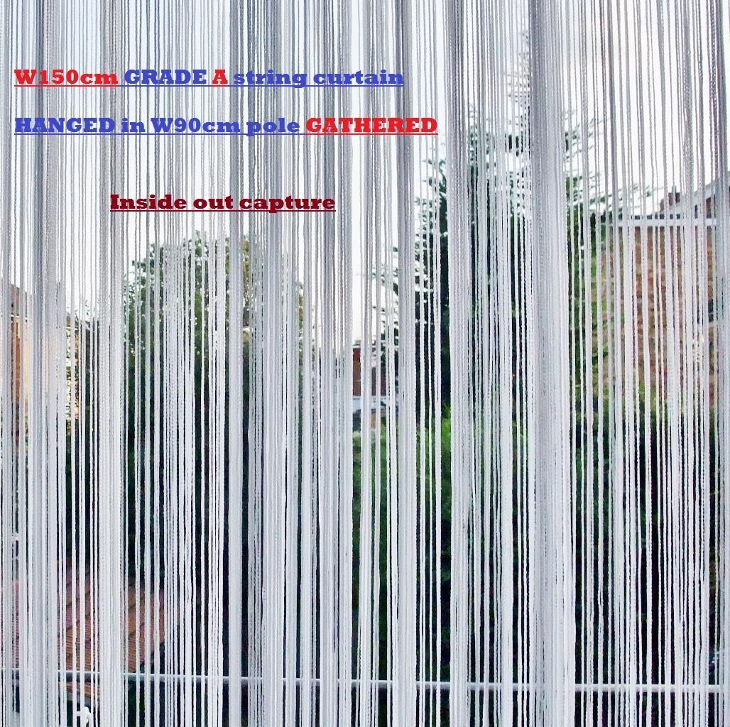 string fringe curtain door fly screen blind w150 l200cm. Black Bedroom Furniture Sets. Home Design Ideas