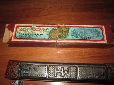 ANTIQUE/VINTAGE M. HOHNER MARINE BAND TREMOLO HARMONICA NO ...