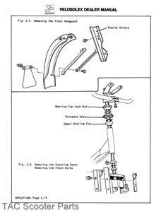 velosolex solex model 4600 moped dealer repair manual