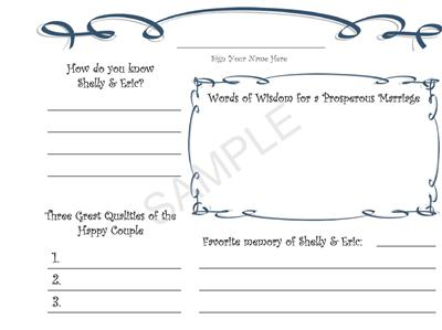 Free Printable Wedding Guest Book Template