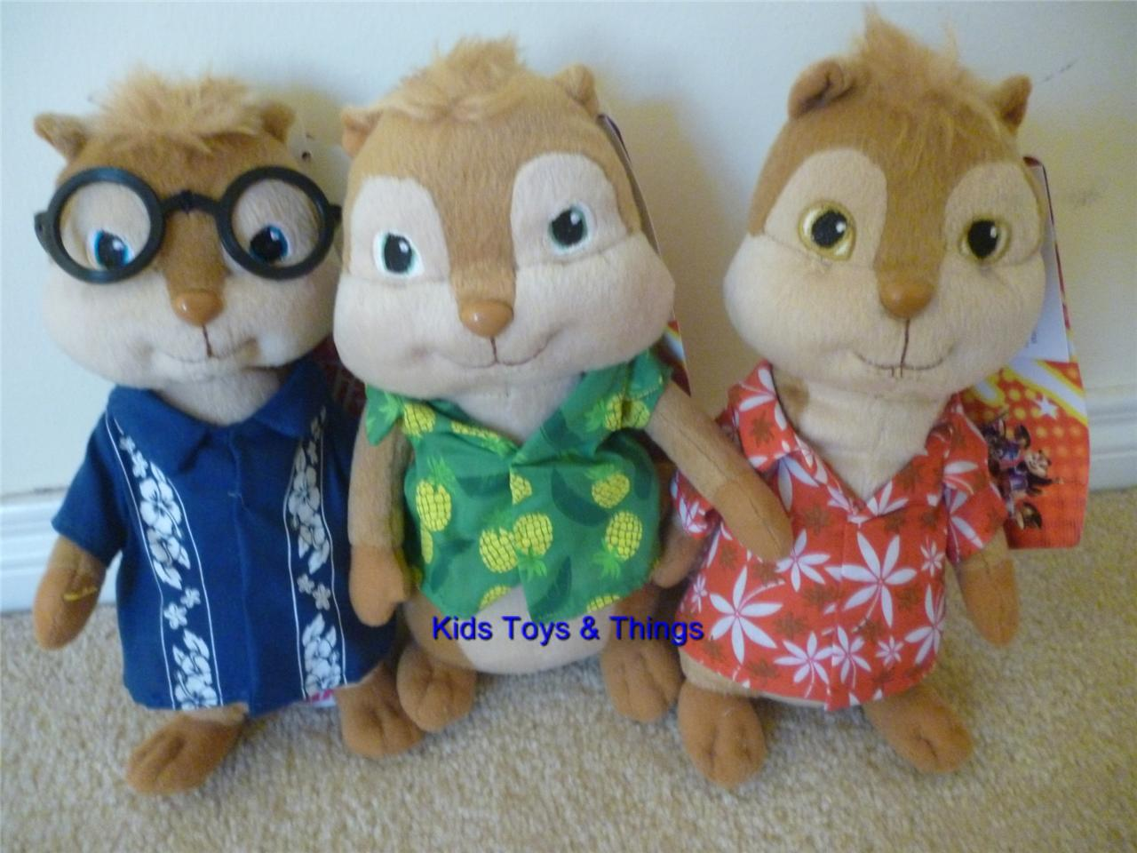 Toys For Chipmunks : Alvin the chipmunks chipwrecked set of dolls soft