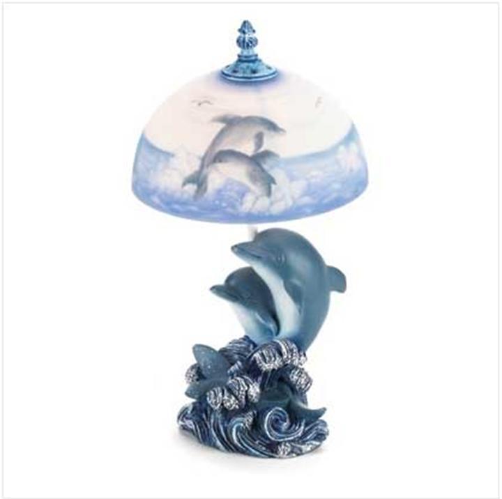 Dolphin Table Lamp Novelty Light Ocean Scene 37174 eBay
