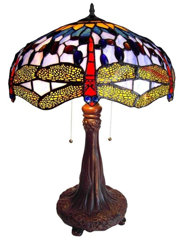 dragonfly tiffany style table lamp stained glass 18 shade 1049db18 tl2. Black Bedroom Furniture Sets. Home Design Ideas