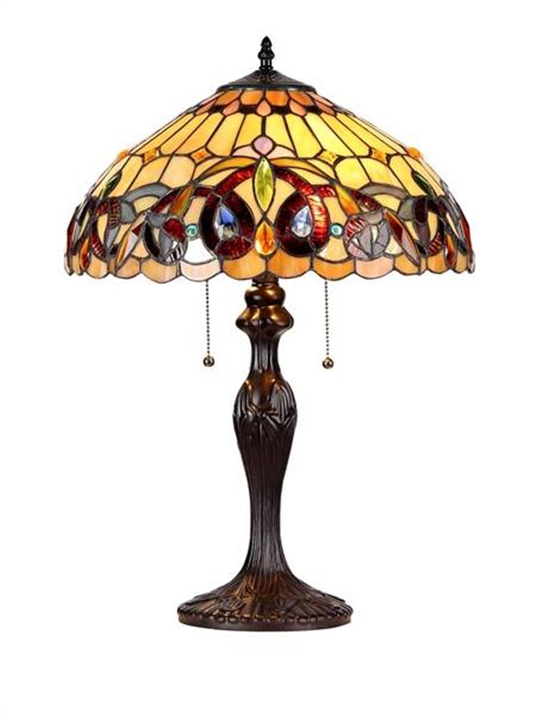 victorian style table lamp stained glass shade 15 7 33353vr16 tl2. Black Bedroom Furniture Sets. Home Design Ideas