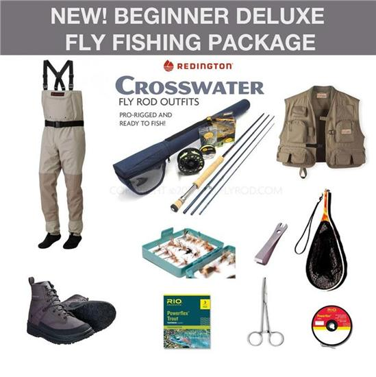 new beginner deluxe fly fishing package fly rod outfit