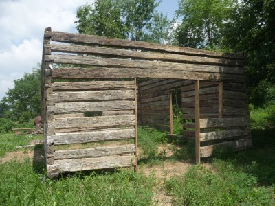 Antique vintage log cabin hand hewn hemlock oak 1800 39 s ebay for Hand hewn log cabin for sale