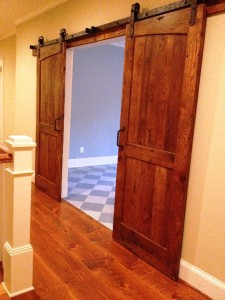 sliding barn door antique reclaimed wood dual radius. Black Bedroom Furniture Sets. Home Design Ideas