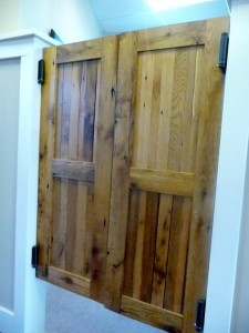 Reclaimed pub doors