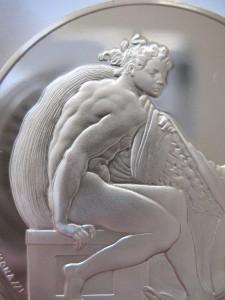 1 3 Oz 925 Silver Franklin Mintproof Coin Ignudo Genius Of