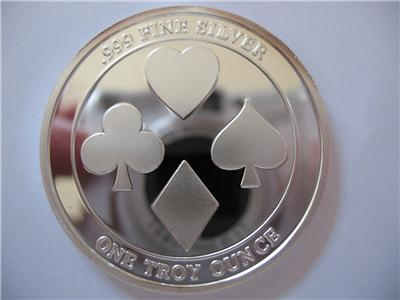 1 Oz 999 Silver Le Proof Low Poker Guard Card Coin Babe