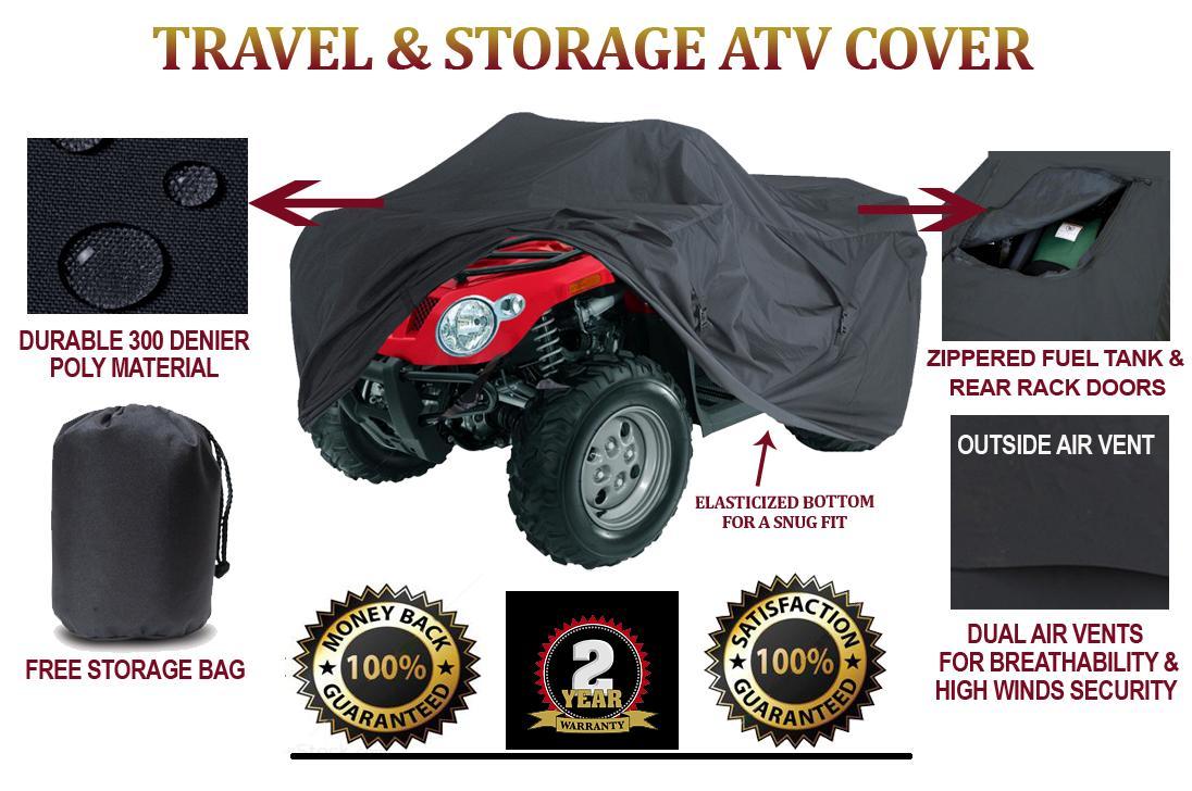 Trailerable ATV Cover Bombardier Can-Am   Outlander MAX 500 EFI LTD 2010 Black