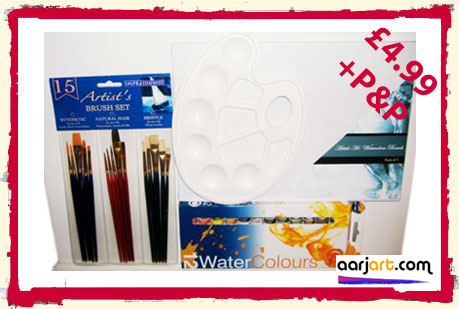 31 piece watercolour board art set