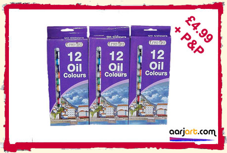 36 oil paints set