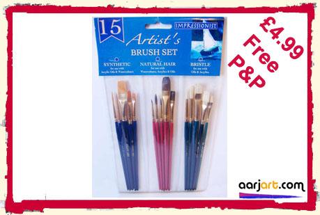 15 impressionist brushes