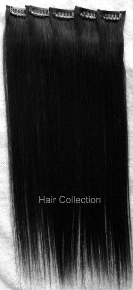 24-1B-Remy-100-Human-Hair-Clip-On-In-Extensions-5pcs