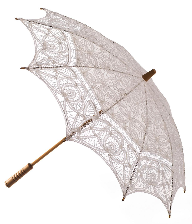 Wedding parasol 8 colours vintage victorian design cotton for Architecture upbrella