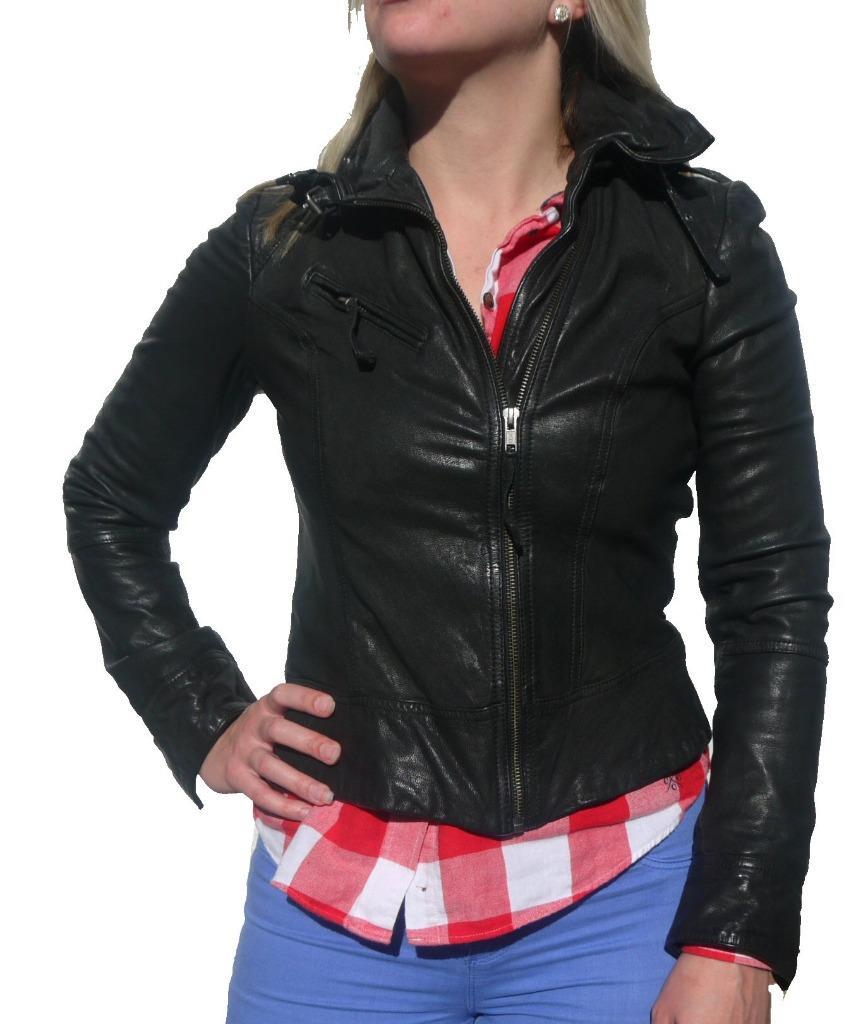 All saints leather jacket ebay