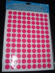 630 OR 1080 LARGE NEON STICKY DOTS PRICE ROUND LABELS STICKERS SELF ADHESIVE