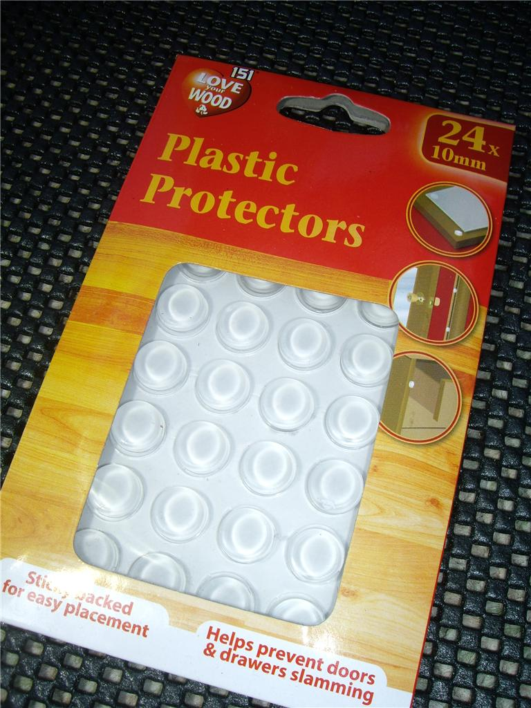 PLASTIC PROTECTORS/DOTS PADS SELF ADHESIVE CABINET BUFFERS DRAWER ...