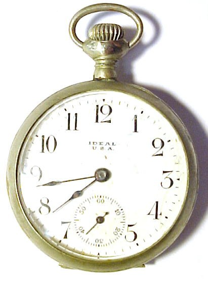 Ideal-USA-Antique-Vintage-Pocket-Watch-AS-IS