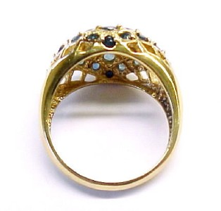 5ctw Sapphire Accented / Gold Plated / Sterling Silver Fashion Ring