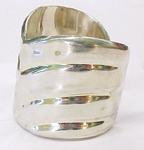 GREGORIO ~ Sterling Silver Wide Cuff Bracelet, Made in Mexico ~ In