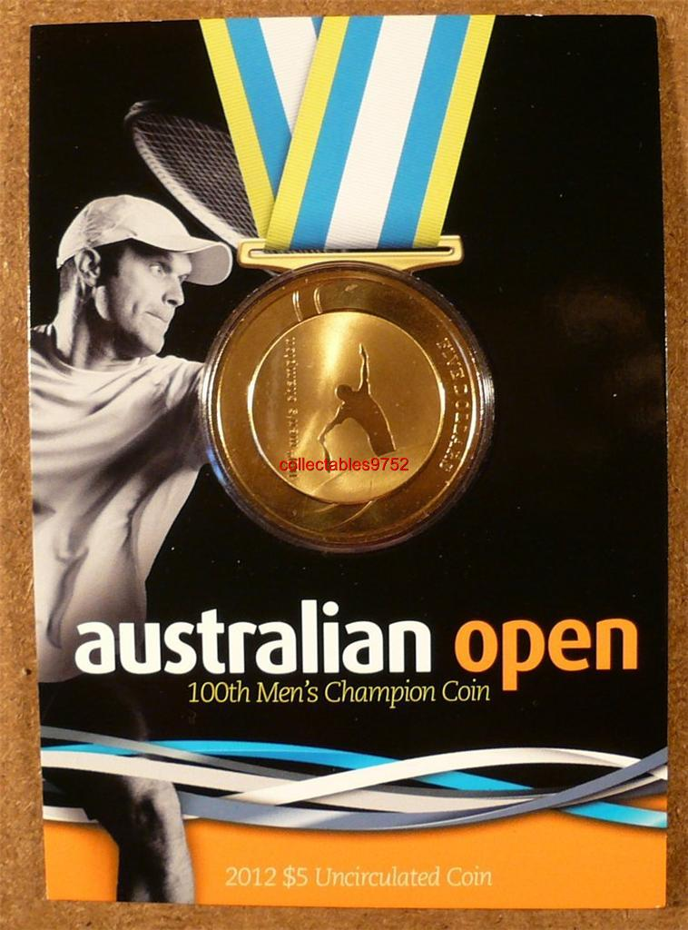AUSTRALIAN-OPEN-100th-MEN-S-CHAMPION-2012-FIVE-DOLLAR-UNCIRCULATED-COIN