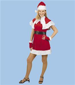 Sexy santa helper mrs claus dress costume adult 8 12 holiday christmas